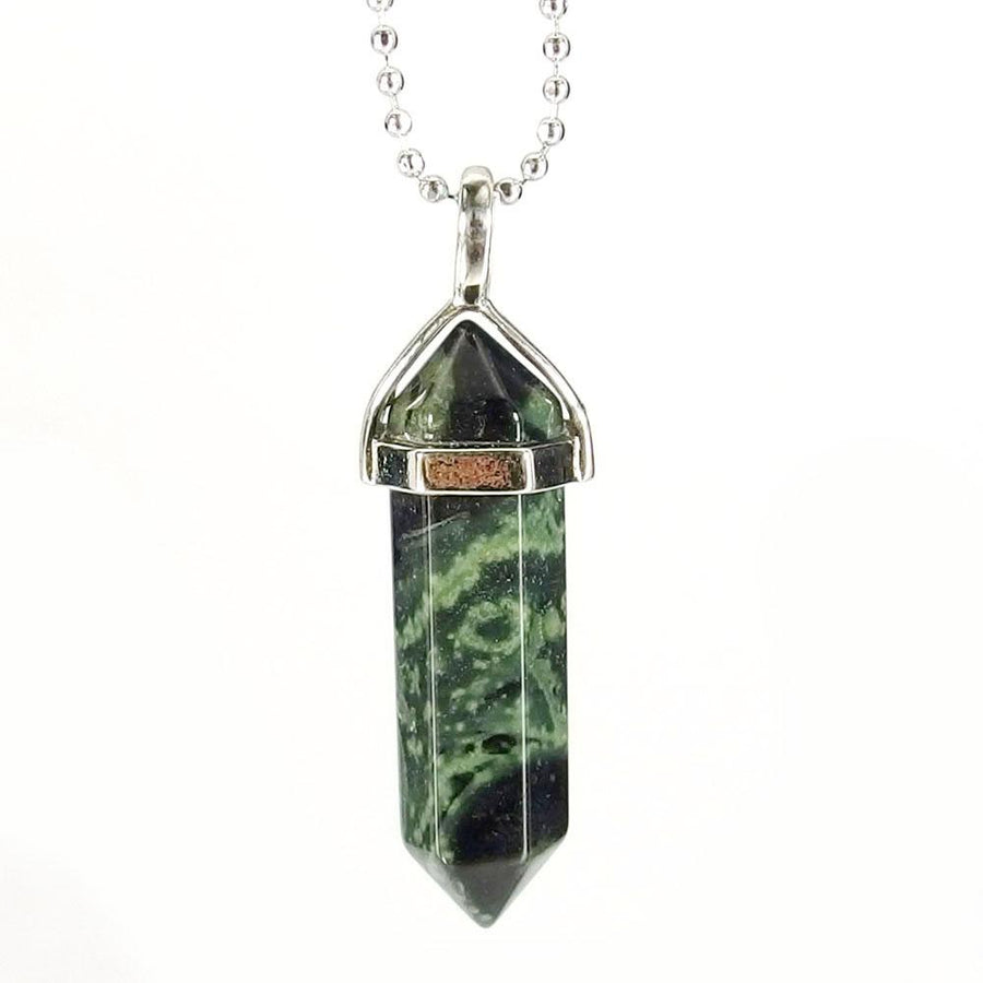 Pendant Necklaces - Kambaba Jasper Gemstone Pendant Necklace