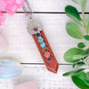 Red Sandstone Chakra Wand Necklace