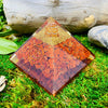 Red Jasper Crystal Orgone Pyramid Energy Generator | Root Chakra Reiki Healing Protection