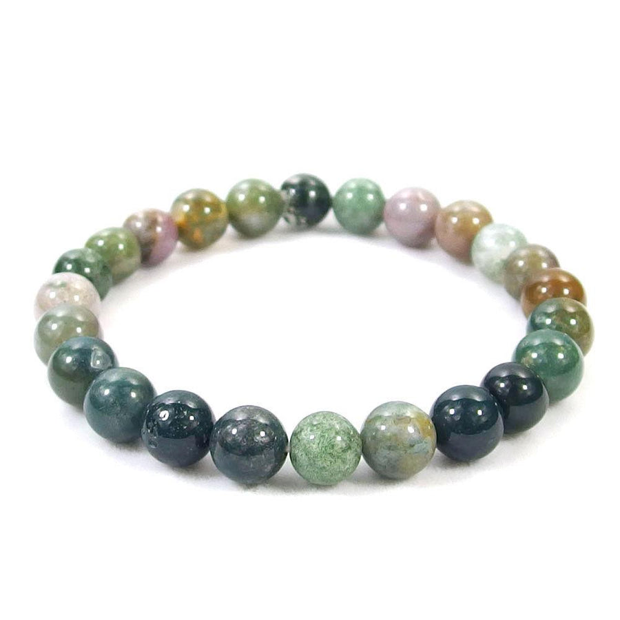 Indian Agate Beaded Bracelet