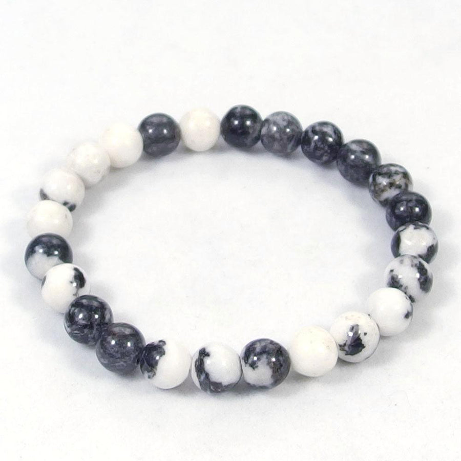 White Zebra Jasper Beaded Bracelet