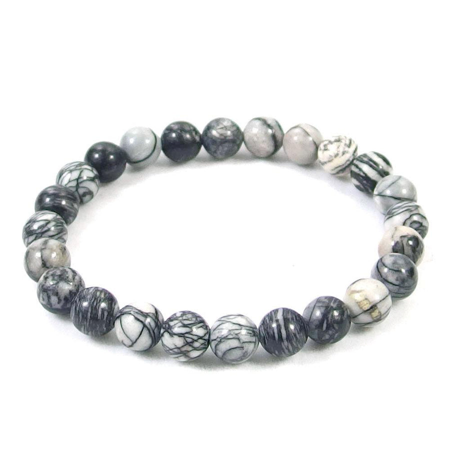 Spiderweb Jasper Beaded Bracelet