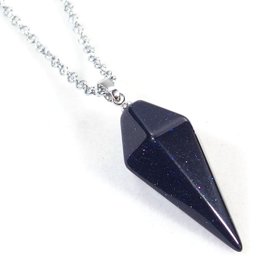 Blue Sandstone Pendulum Necklace
