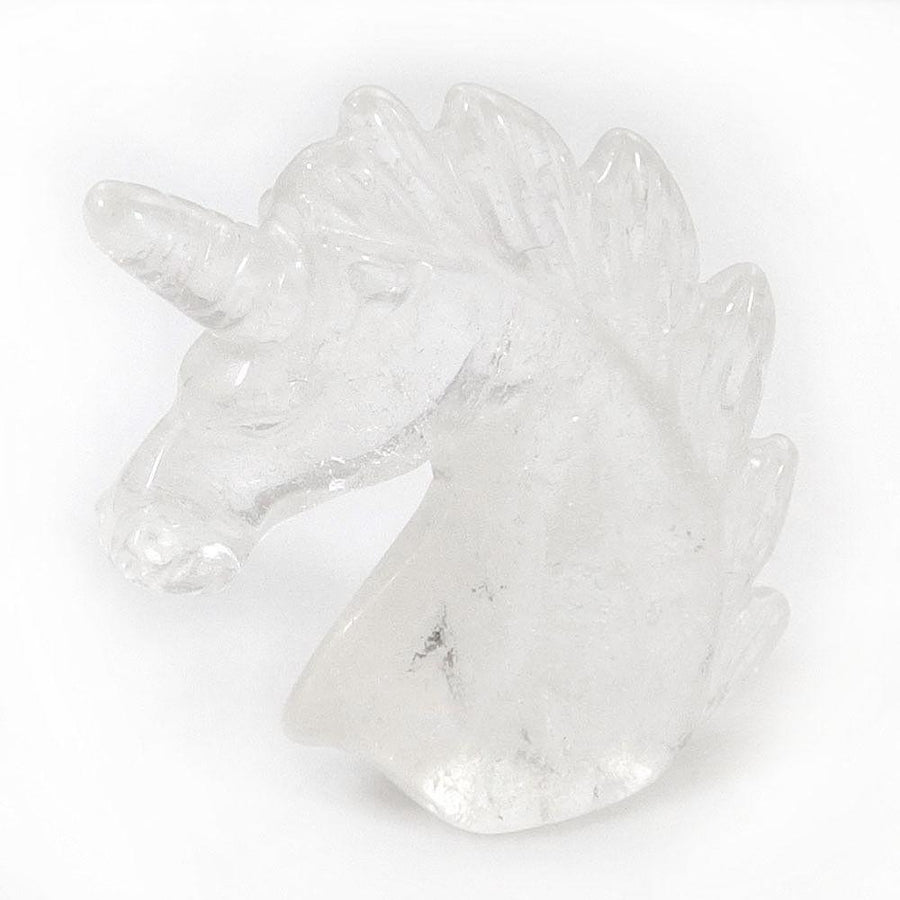 Clear Quartz Unicorn Carving