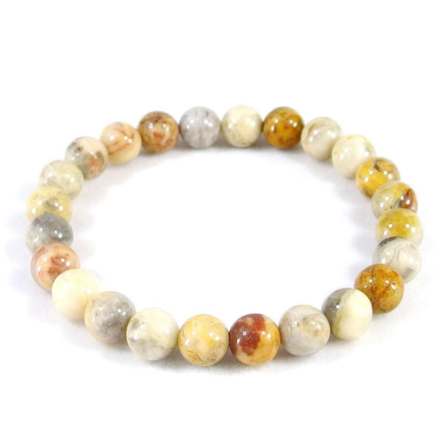 Crazy Lace Agate Beaded Bracelet