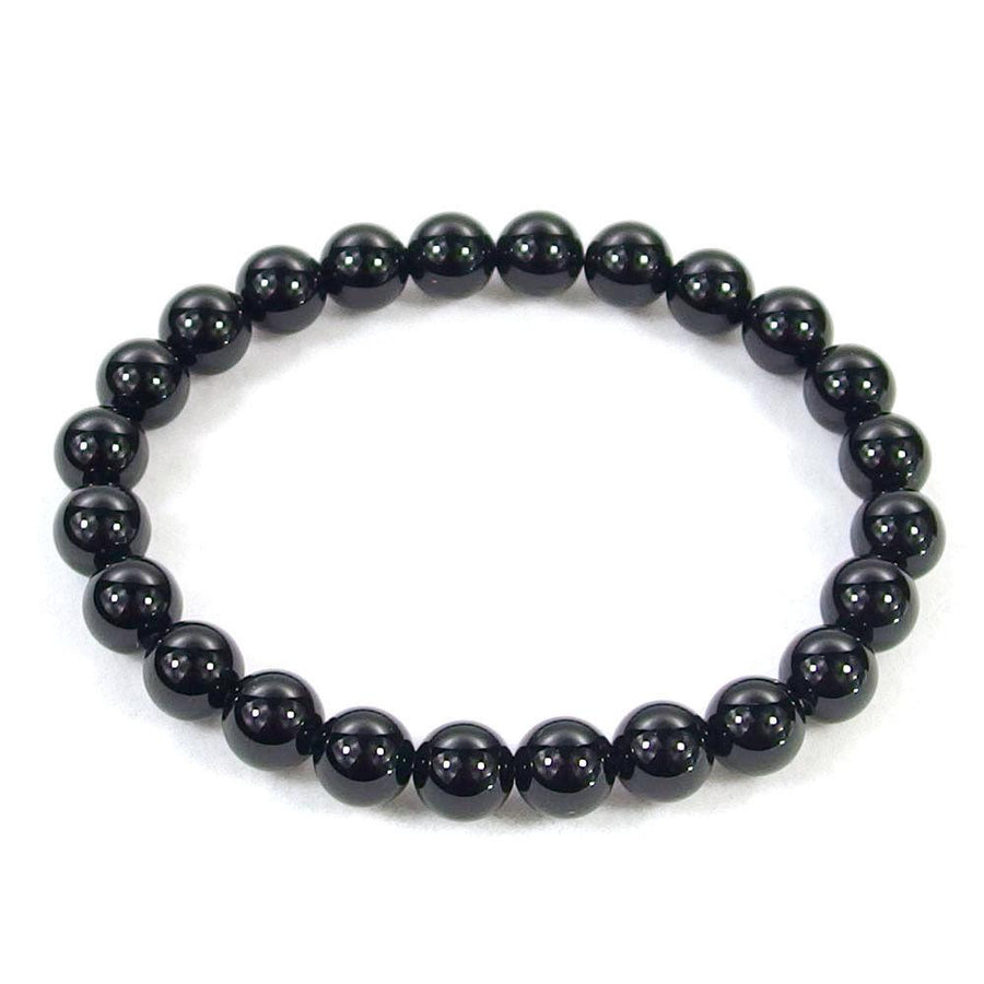 Black Obsidian Beaded Bracelet