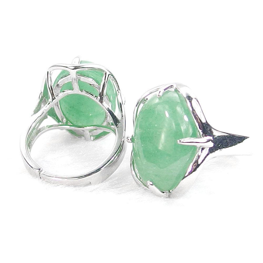 Green Aventurine Gemstone Cabochon Ring