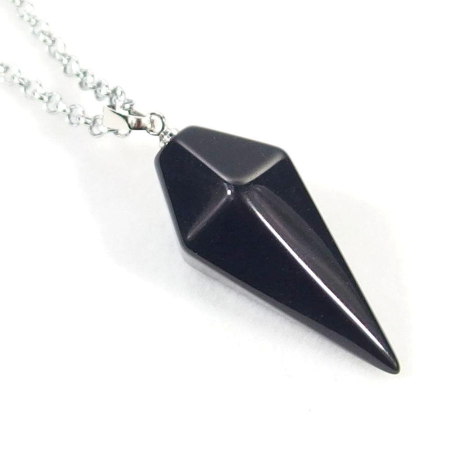 Black Agate Pendulum Necklace