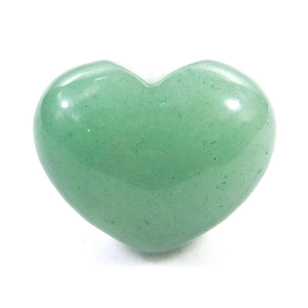 Clear Hand Carved Green Aventurine Heart ShapedAventurine HeartAventurine QuartzNecklacePendantsLove StoneGift for her-undrilled