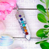 White Turquoise Chakra Wand Necklace
