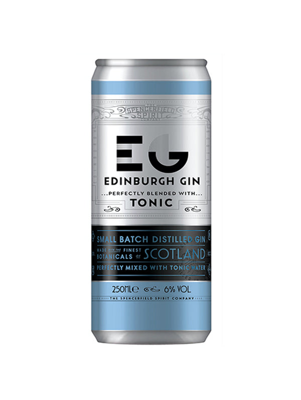 Edinburgh Gin - Gin & Tonic Can 250ml