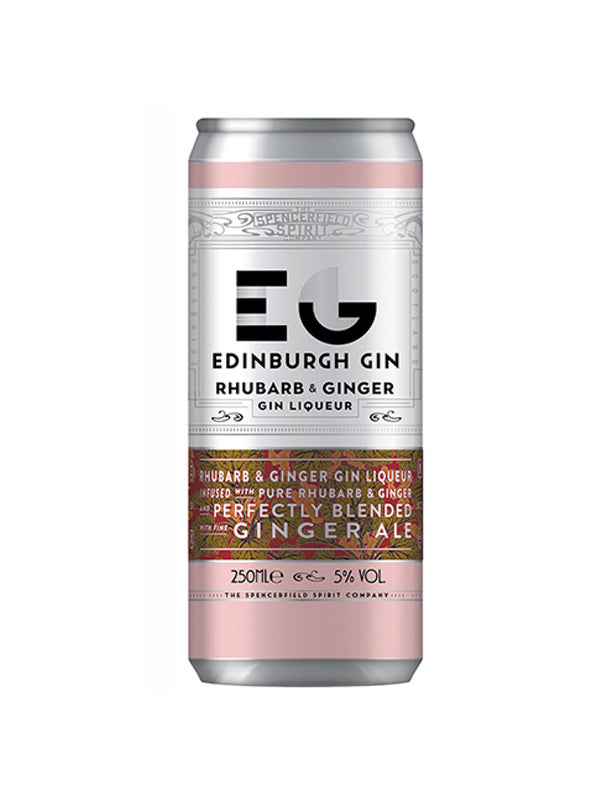 Edinburgh Gin - Rhubarb & Ginger Can 250ml