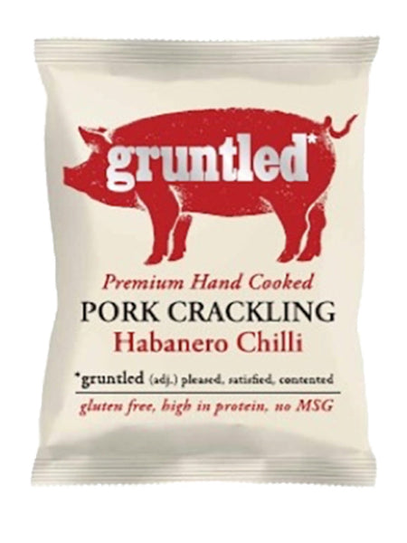 Gruntled Pig - Habanero Chilli Pork Crackling 40g
