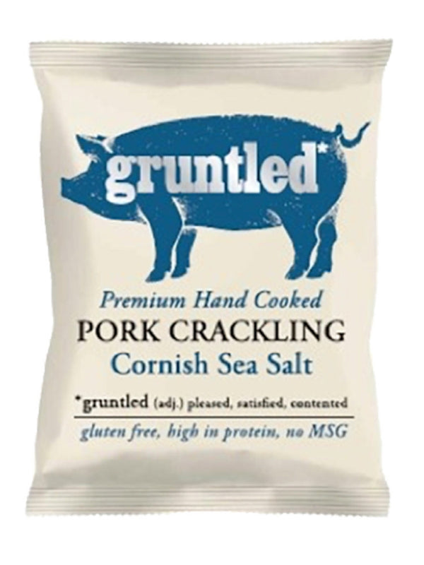 Gruntled Pig - Cornish Sea Salt Pork Crackling 40g