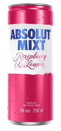 Absolut - Raspberry & Lemon 250ml