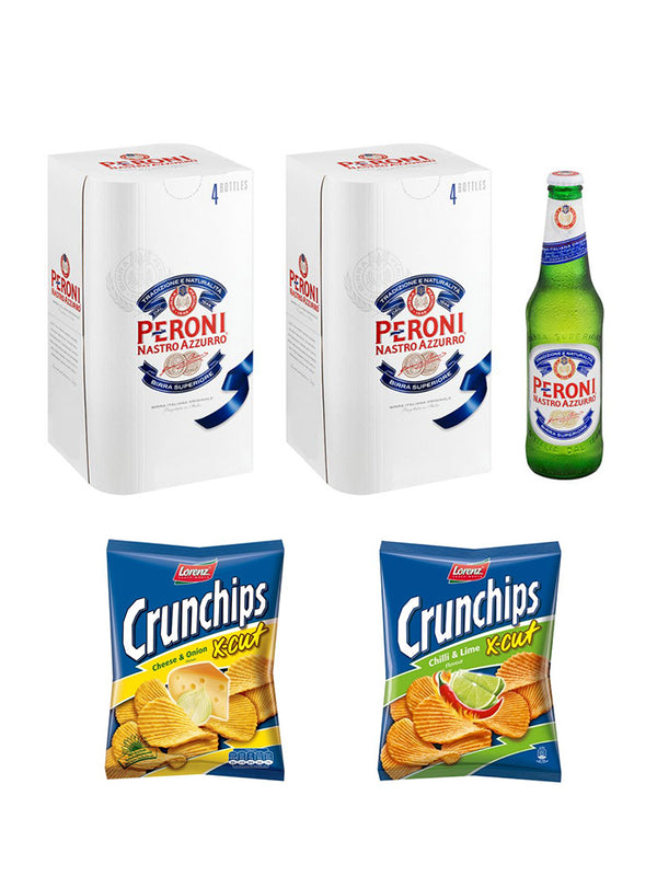 Peroni and Crunchips Combo