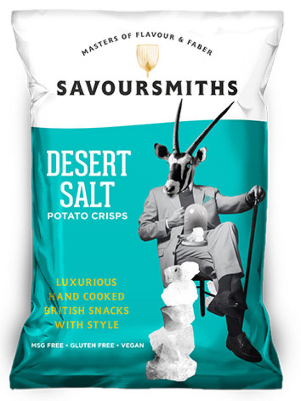 Savoursmiths - Desert Salt Potato Crisps 150g