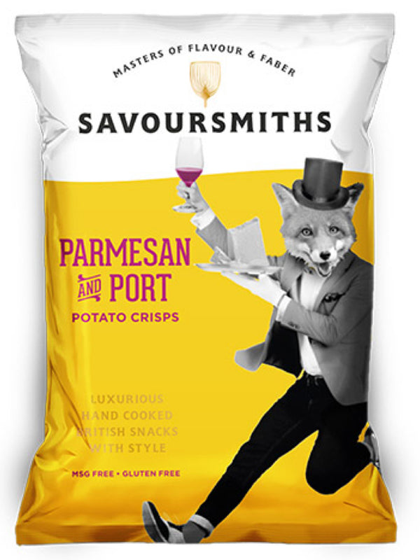 Savoursmiths - Parmesan & Port Potato Crisps 150g