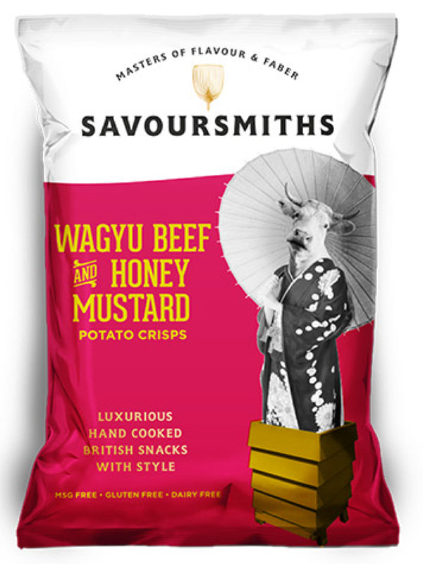 Savoursmiths - Wagyu Beef & Honey Mustard Potato Crisps 150g