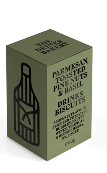 Drinks Biscuits - Parmesan, Pinenut & Basil 48g