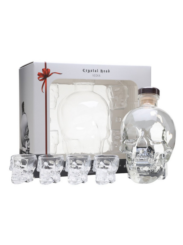 Crystal Head And Shot Glasses - Gift Pack 70cl