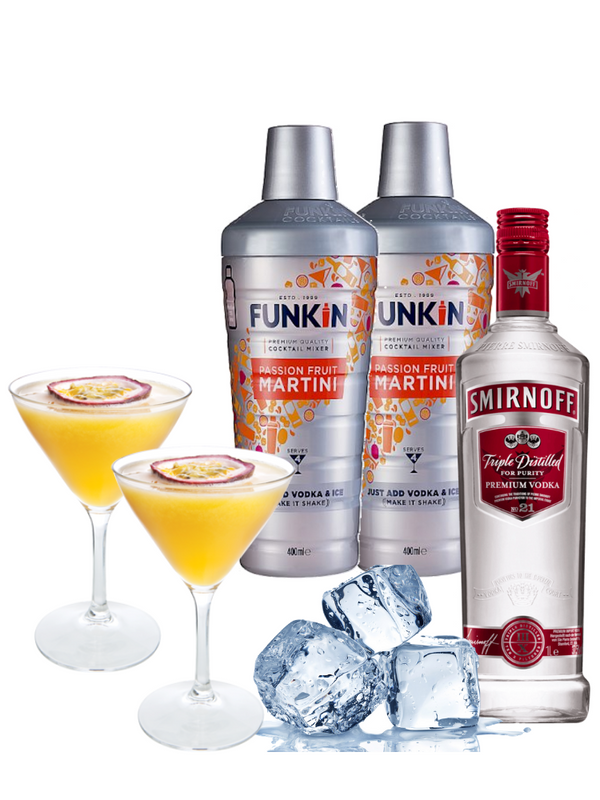 Cocktail Combo - Passion Fruit Martini (Makes 8)