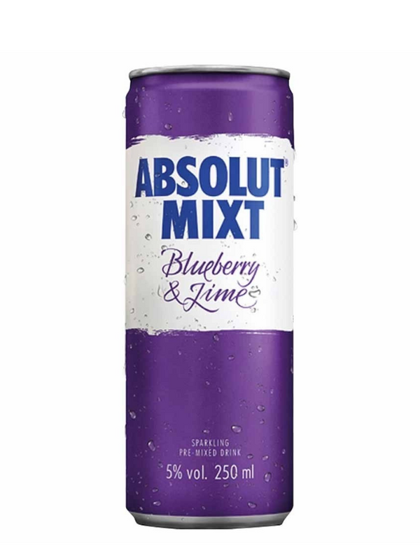 Absolut - Blueberry & Lime 250ml