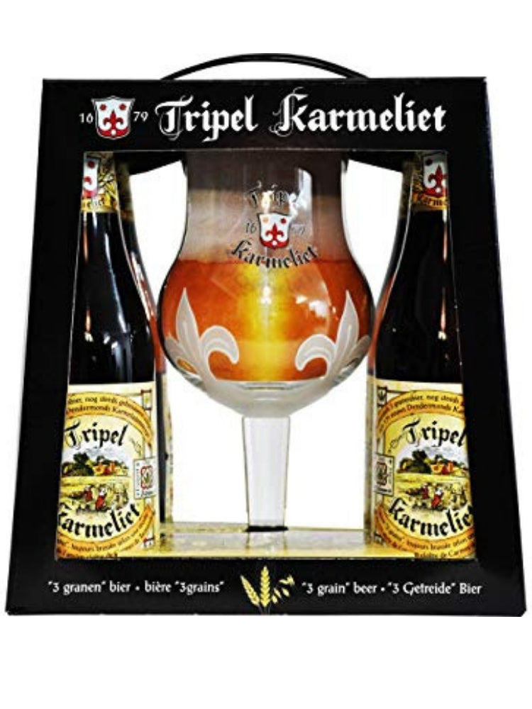 Triple Karmeliet - Gift Pack 4 x 33cl + 1 glass