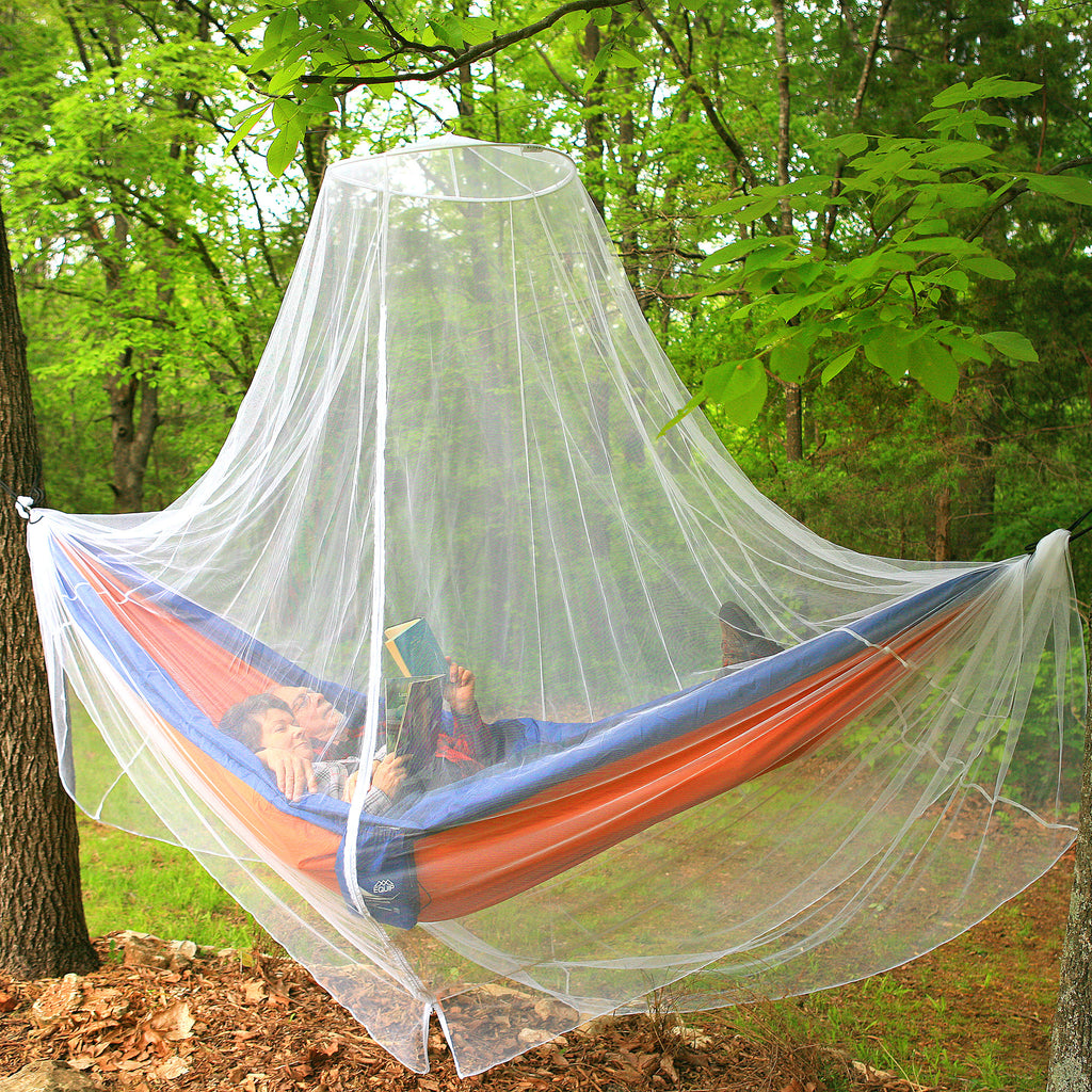 Mosquito Net Bed Canopy with Zipper Opening | Round Canopy with Extra Bug Protection | Great for Outdoor Use
