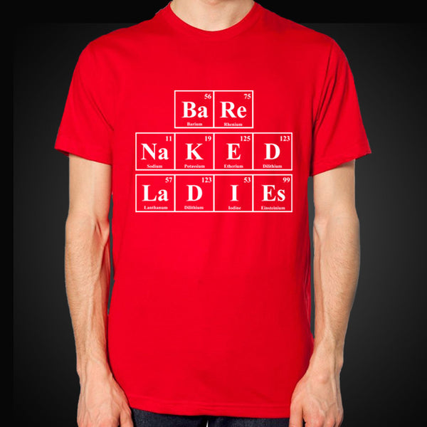 Red Periodic Table Tee