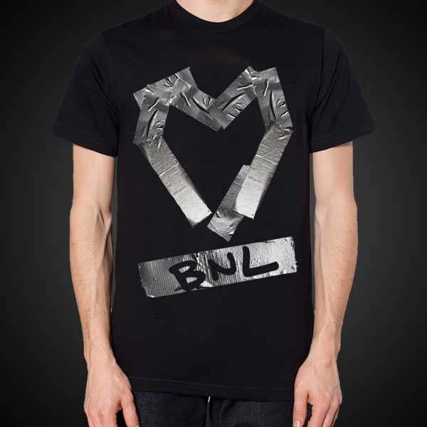 Duct Tape Heart Black T-shirt