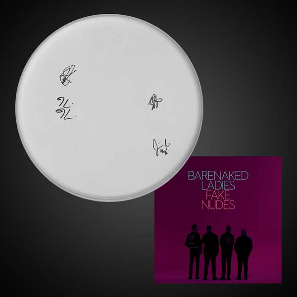 Signed Used Drumhead + Fake Nudes MP3