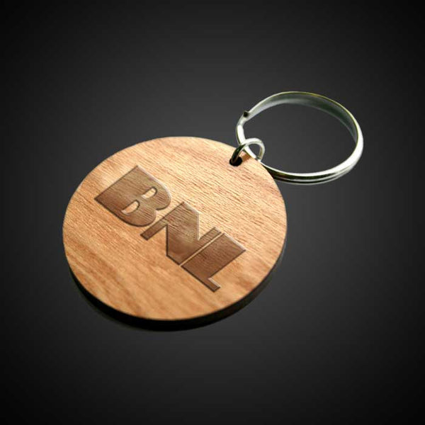 BNL ENGRAVED WOODEN KEYRING