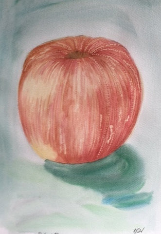 "Original Water colour Still Life ""Apple"" - signed by the Artist Neil Morrison"