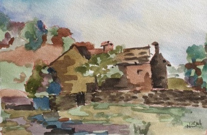 Original Water colour of Blakeys Cottage - Marley - signed by the Artist Neil Morrison