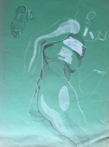 Female Nude study (1) - signed by the Artist Neil Morrison