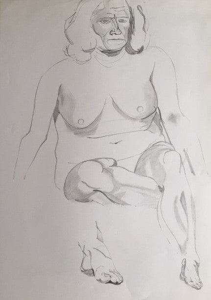Female Nude study (4) - signed by the Artist Neil Morrison