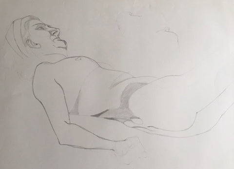 Female Nude study (6) - signed by the Artist Neil Morrison