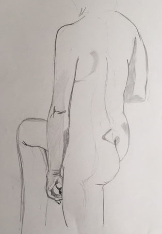 Female Nude study (7) - signed by the Artist Neil Morrison