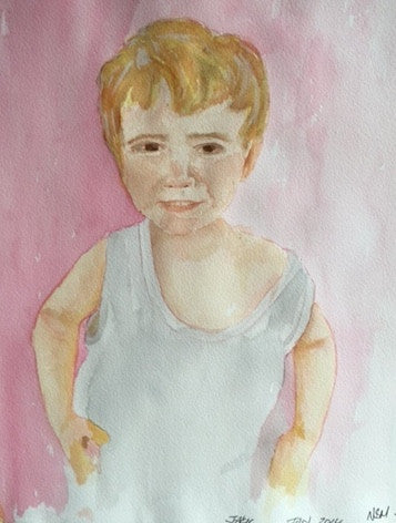 "Original Water colour entitled ""Jack"" - signed by the Artist Neil Morrison"