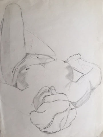 Female Nude study (2) - signed by the Artist Neil Morrison