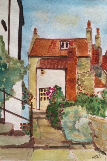 Original Water colour of Robin Hoods Bay, North Yorkshire - signed by the Artist Neil Morrison