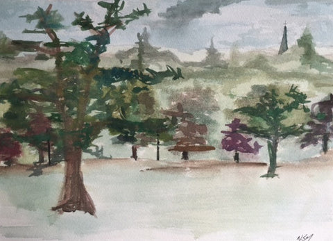 Original Water colour of Roundhay Park, (1) West Yorkshire - signed by the Artist Neil Morrison