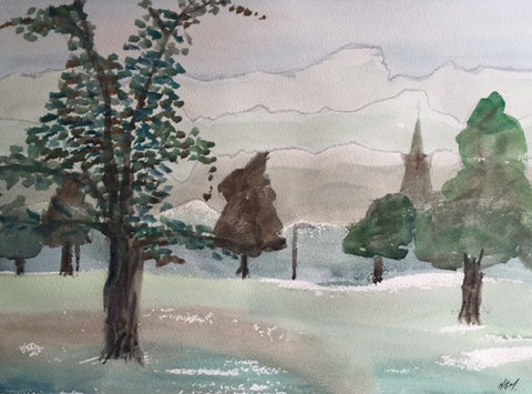 Original Water colour of Roundhay Park, (2) West Yorkshire - signed by the Artist Neil Morrison