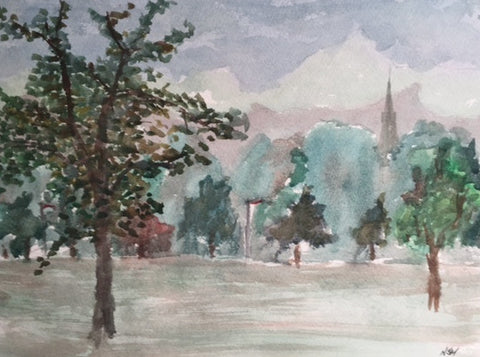 Original Water colour of Roundhay Park, (3) West Yorkshire - signed by the Artist Neil Morrison