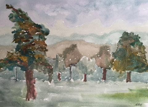 Original Water colour of Roundhay Park, (4) West Yorkshire - signed by the Artist Neil Morrison