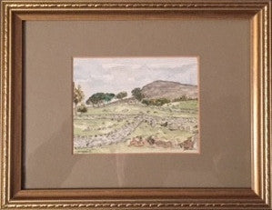 Original Watercolour West Yorkshire Landscape - signed by the Artist Kevin Braithwaite