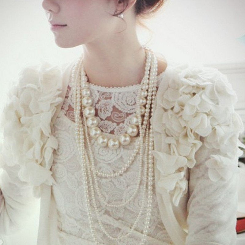 Fall Fashion:  Pearls, pearls and more pearls...