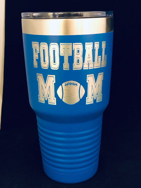 Football Mom Tumbler 30oz