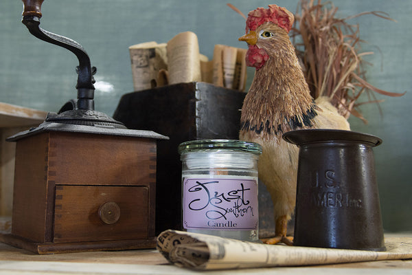 Candle in a jar and wooden wick, crafted from scratch with a fresh southern scent
